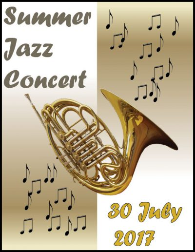 Poster for a jazz concert